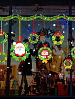cheap -Christmas Wreath Wall Stickers Decorative Wall Stickers PVCHome Decoration Wall Decal Wall Decoration Glass Window Decoration Removable