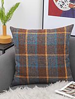 cheap -Pure Color Linen Cushion Pillowcase Plain Plaid Sofa Pillow Car Office Lumbar Support
