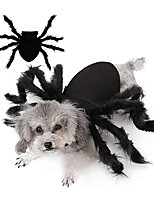 cheap -Malier Halloween Dogs Cats Costume Furry Giant Simulation Spider Pets Outfits Cosplay Dress up Costume Halloween Pets Accessories Decoration for Dogs Puppy Cats