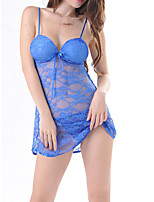 cheap -Women's Sexy Bodies Bed Transparent Pure Color Lace Ultra Slim Hot Thong Summer Straps Chestpads / 2 Pieces / G-strings & Thongs Panties
