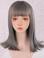cheap -Synthetic Wig Curly Wavy Neat Bang Wig Long A1 A2 Synthetic Hair Women's Cosplay Soft Party Black Purple