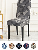 cheap -Chair Cover for Dining Room,Soft Spandex Removable Washable Anti-dust Seat Slipcover, Protector for Hotel,Office,Ceremony,Banquet Wedding Party
