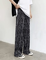 cheap -Women's Fashion Streetwear Comfort Chinos Loose Casual Weekend Pants Tie Dye Full Length Elastic Waist Print Black Coffee