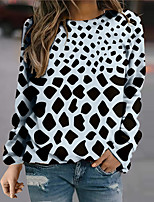 cheap -Women's Sweatshirt Pullover Geometric Print Daily Sports 3D Print Active Streetwear Hoodies Sweatshirts  Black