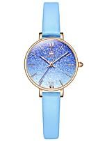 cheap -OLEVS 6643 Lady Watch Waterproof Women Watch Luxury Brand Quartz Watch INS Hot Leather Wrist Watch Bracelet Set Reloj Mujer