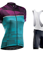 cheap -women's cycling jerseys suit breathable stretchy 5d padded cycle top bib shorts for riding racing mountain bike(xxxl,a)