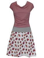 cheap -Women's A Line Dress Knee Length Dress Blue Dusty Rose White Black Light Blue Short Sleeve Floral Print Pocket Print Summer V Neck Casual 2021 S M L XL XXL 3XL