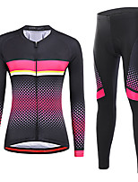 cheap -21Grams Women's Long Sleeve Cycling Jersey with Tights Winter Spandex Black Bike Quick Dry Moisture Wicking Sports Graphic Mountain Bike MTB Road Bike Cycling Clothing Apparel / Stretchy / Athletic