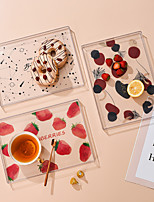 cheap -Nordic Food Tray Breakfast Plate Creative Home Fruit Plate Dinner Plate Mat Water Tea Cup Tray