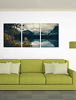 cheap -3 Panels Wall Art Canvas Prints Painting Artwork Picture Landscape Alps Home Decoration Decor Rolled Canvas No Frame Unframed Unstretched