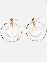 cheap -Women's Drop Earrings Earrings Geometrical Twist Circle Simple Fashion Cute Sweet Earrings Jewelry Gold For Party Daily Holiday Prom Work 1 Pair