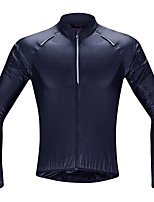 cheap -SANTIC Men's Cycling Jacket Winter Bike Top Windproof Quick Dry Sports Solid Color Blue Clothing Apparel Loose Bike Wear / Long Sleeve / Athleisure
