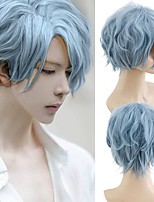 cheap -Synthetic Wig Curly Short Bob Asymmetrical Wig Short Pink Synthetic Hair Men's Cosplay Soft Party Pink Brown