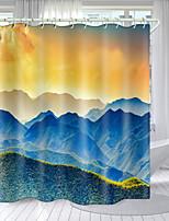 cheap -Alpine Landscape Digital Printing Shower Curtain Shower Curtains  Hooks Modern Polyester New Design