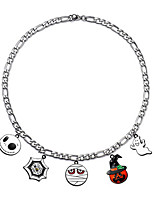 cheap -Pendant Necklace Women's Geometrical Christmas Tree pumpkin carriage Funny Cute Silver Silver 6 45 cm Necklace Jewelry 1pc for Christmas Halloween Gift Daily Festival