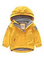 cheap -liligirl oblique zipper baby kids jacket fleece lining girls jackets stars hooded boys coat autumn trench children windbreaker y0810
