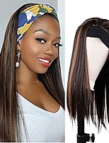 cheap -Headband Wigs for Black Women Ombre Brown Synthetic Headband Wig Glueless Heat Resistant Fiber Wig Natural Looking Daily Use(Ombre Brown, 20 Inch)