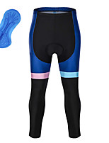 cheap -21Grams Men's Cycling Tights Bike Tights Quick Dry Moisture Wicking Sports Patchwork 3D Blue Mountain Bike MTB Road Bike Cycling Clothing Apparel Bike Wear / Athleisure