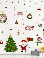 cheap -Holiday Christmas Cartoon Wall Stickers Bedroom Kids Room Kindergarten Removable Pre-pasted PVC Home Decoration Wall Decal 1pc