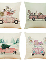cheap -Vintage Double Side Cushion Cover 4PC Soft Decorative Square Throw Pillow Cover Cushion Case Pillowcase for Bedroom Livingroom Superior Quality Machine Washable Indoor Cushion for Sofa Couch Bed Chair