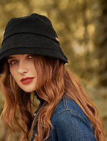 cheap -Simple Fashion Cotton / Polyester / Cotton Hats with Solid / Fur / Splicing 1pc SchoolWear / Casual Headpiece