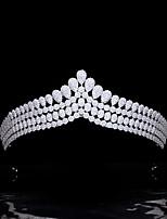 cheap -High-end Jewelry Bridal Wedding Crown Micro-inlaid Full Zircon Crown Headdress Wedding Accessories