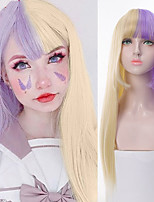 cheap -Synthetic Wig Natural Straight Neat Bang Wig Long A1 A2 A3 A4 A5 Synthetic Hair Women's Cosplay Soft Party Blonde