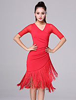 cheap -Activewear Dress Printing Tassel Solid Women's Training Performance Half Sleeve High Milk Fiber