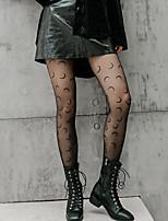 cheap -Fashion Cute Women's Socks Geometric Pantyhose Sheers Party Thin 10D Party White 1 Pair