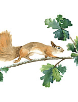 cheap -new cartoon squirrel children's bedroom home cabinet wall decoration removable wall stickers