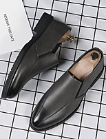 cheap -Men's Loafers & Slip-Ons Business Daily PU Breathable Non-slipping Wear Proof Gray Black Fall Spring