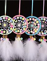 cheap -Boho Dream Catcher Handmade Gift Wall Hanging Decor Art Ornament Craft Car Rearview Pendant Feather For Kids Bedroom Wedding Festival