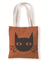 cheap -Fashionable Canvas Shoulder storage Bag Halloween gym reusable portable grocery shopping cloth book tote 33*37 cm