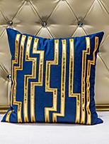 cheap -1 pcs Velvet Synthetic Pillow Cover, Art Deco Color Block Luxury Modern Square Zipper Traditional Classic