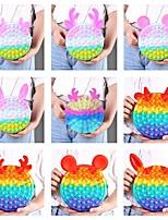 cheap -Super Big Size Macaron Bag Push Bubble Toys Squishy Stress Reliever Toys Anti-stress Rainbow Fidget Toys Christmas Gifts