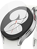 cheap -glass [4 pack] compatible with samsung galaxy watch 4 44mm screen protector, tempered glass 9h hardness anti scratch full cover protective film