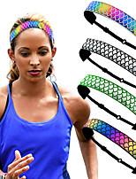 cheap -4 Pcs/set Sports Hairbands Running Non-slip Headbands Trendy Mermaid Headband Fitness Yoga Hairbands Fish Scales Headbands