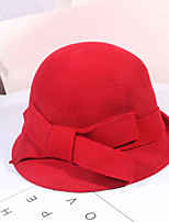 cheap -Women's Party Hat Party Wedding Street Bow Pure Color Wine Black Hat Red Fall Winter