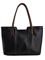 cheap -Women's Bags PU Leather Tote Shopping Work Oversize Bag Tote Handbags White Black Brown