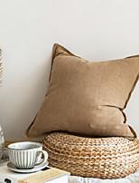cheap -Pure Color Cotton Linen Pillow Case Simple Plain Linen Cushion Model Room Homestay Decoration Square Cushion Pillow Waist Back