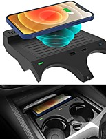 cheap -Wireless Car Charger for BMW 5 Series M5/535i/540i/550i/530e 2018-2021 and 6 Series M6/640i/650i 2018-2019 Accessories Center  Wireless Charging pad fit for BMW Accessories