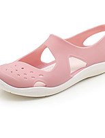cheap -Women's Sandals Round Toe Closed Toe Home Daily PVC Solid Colored Wine Almond Pink