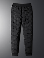 cheap -Men's Athleisure Outdoor Sports Pants Sweatpants Casual Sports Pants Solid Colored Full Length Pocket Black / Fleece Lining / Drawstring