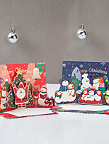 cheap -korean version of creative christmas greeting card christmas eve thank you blessing card hot stamping three-dimensional card santa claus party