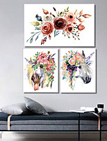 cheap -Wall Art Canvas Prints Painting Artwork Picture Floral Animal Horse Home Decoration Dcor Rolled Canvas No Frame Unframed Unstretched