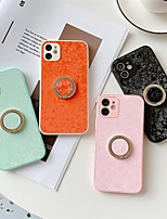 cheap -Phone Case For Apple Back Cover iPhone 12 Pro Max 11 SE 2020 X XR XS Max 8 7 Shockproof Dustproof with Stand Lines / Waves Solid Colored PU Leather