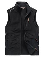cheap -Men's Gilet Street Sport Daily Fall Winter Regular Coat Zipper Stand Collar Regular Fit Warm Breathable Casual Sports Jacket Sleeveless Solid Color Full Zip Pocket Dark Grey Army Green Black
