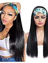 cheap -Straight Headband Wig for Beginners Synthetic Wigs with Headbands Attached Ice Wigs for Black Women