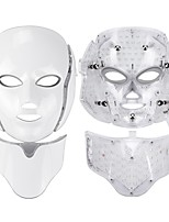 cheap -7 Colors Light LED Facial Mask With Neck Skin Rejuvenation Face Care Treatment Beauty Anti Acne Therapy Whitening