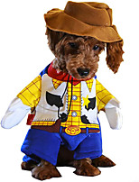 cheap -Woody Dog Costume - Toy Story Pet Costume Cute Cowboy Dog Costume Halloween Dog Cosplay Costume Fashion Dress for Puppy Small Medium Large Dogs Special Events Funny Photo Props Accessories